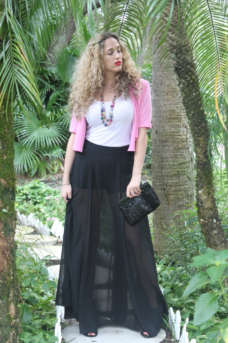4ae085d688d9e A sheer maxi skirt is a way of adding sexiness without being vulgar. I  paired it with a crop short sleeve blazer