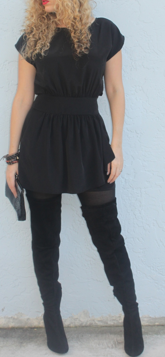 Lbd And Thigh High Boots The Mamanista