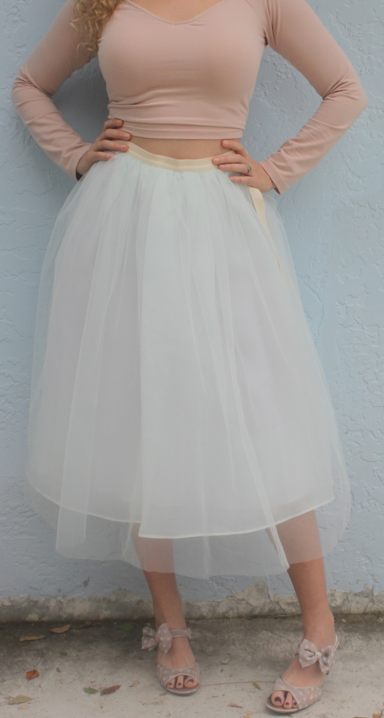 14f89b841a62a Midi Tulle Skirt and Ballet Crop Top – The Mamanista